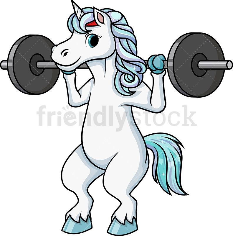 Unicorn Doing Squats With Barbell in 2019.