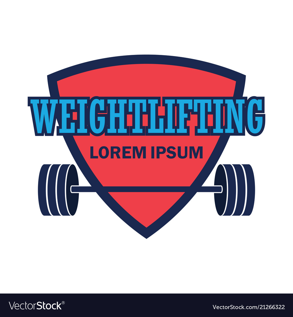 Weight lifting logo with text space for your sloga.