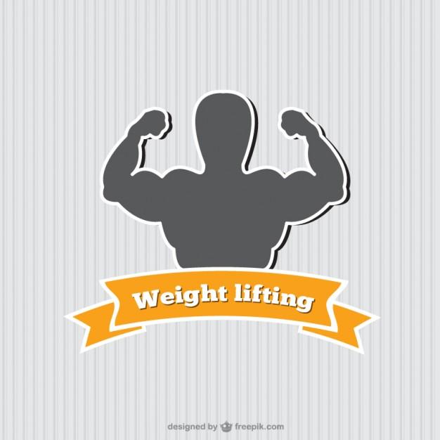 Weight lifting logo Vector.