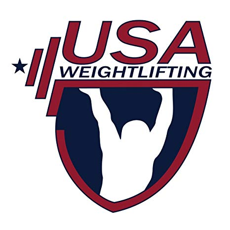 Usa Weightlifting Logo OriginalStickers0848 Set Of Two (2x) Stickers ,  Laptop , Ipad , Car , Truck , Size 4 inches on Longer Side.