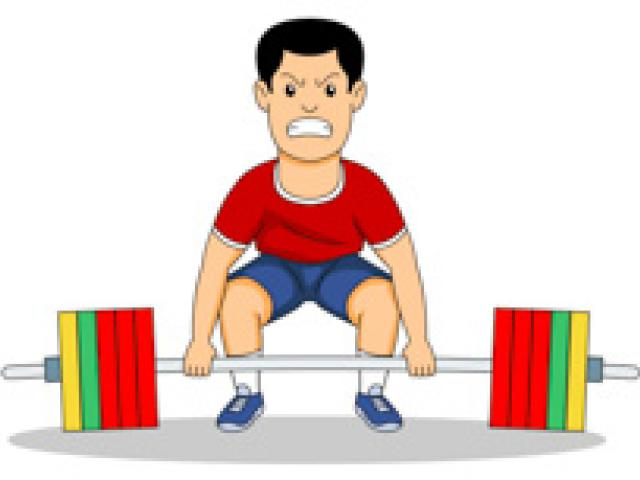 Weight Lifting Clipart 5.