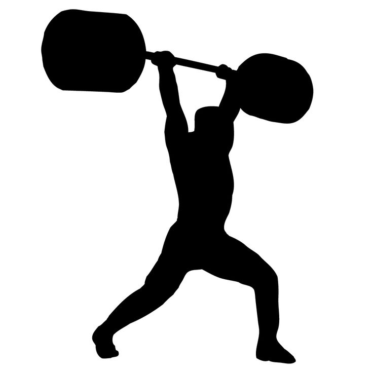 Weight Lifting Silhouette Vector at GetDrawings.com.