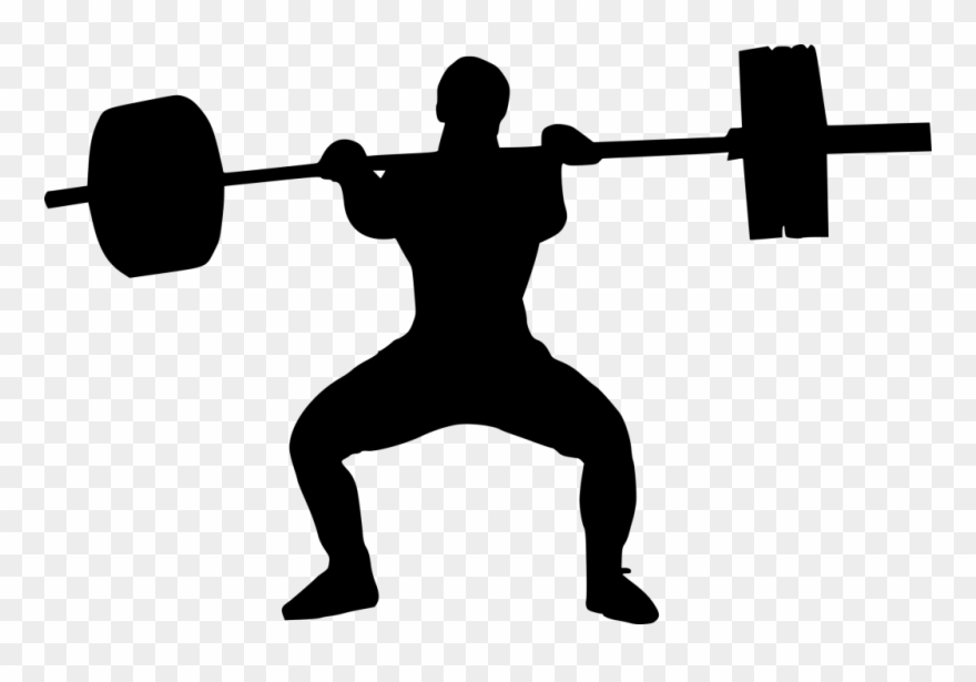 Clip Art Black And White Download Weight Lifter Silhouette.