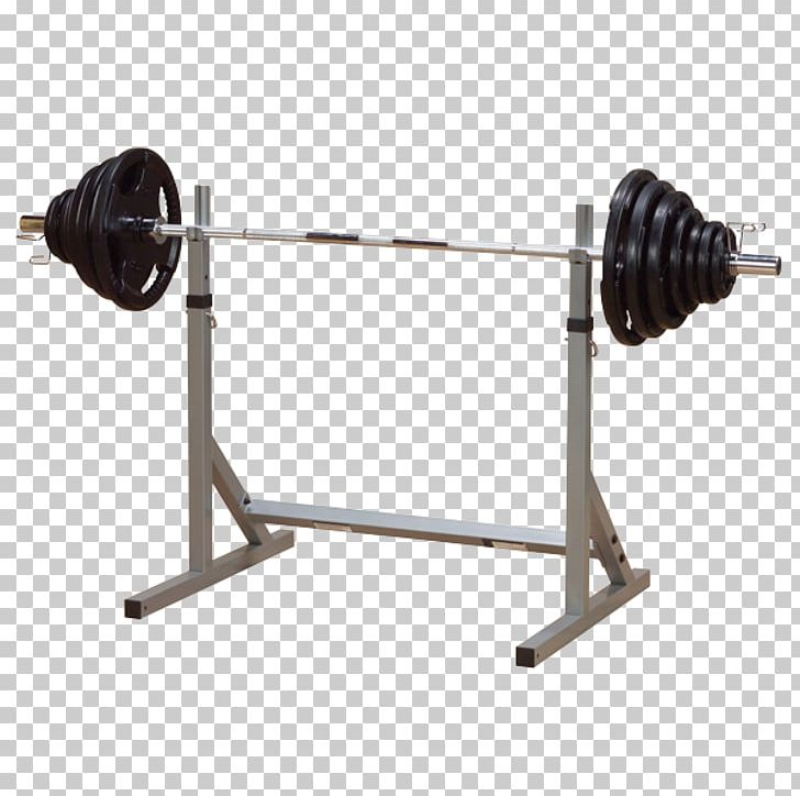 Power Rack Squat Weight Training Bench Press Barbell PNG.