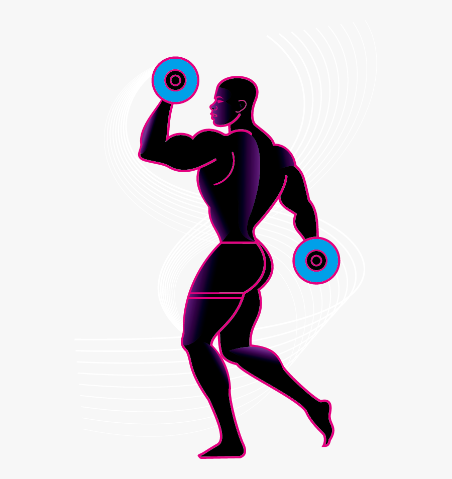 Transparent Weightlifting Clipart.