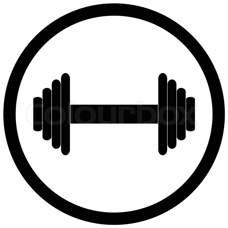 Dumbbell black icon. Weight lifting,.