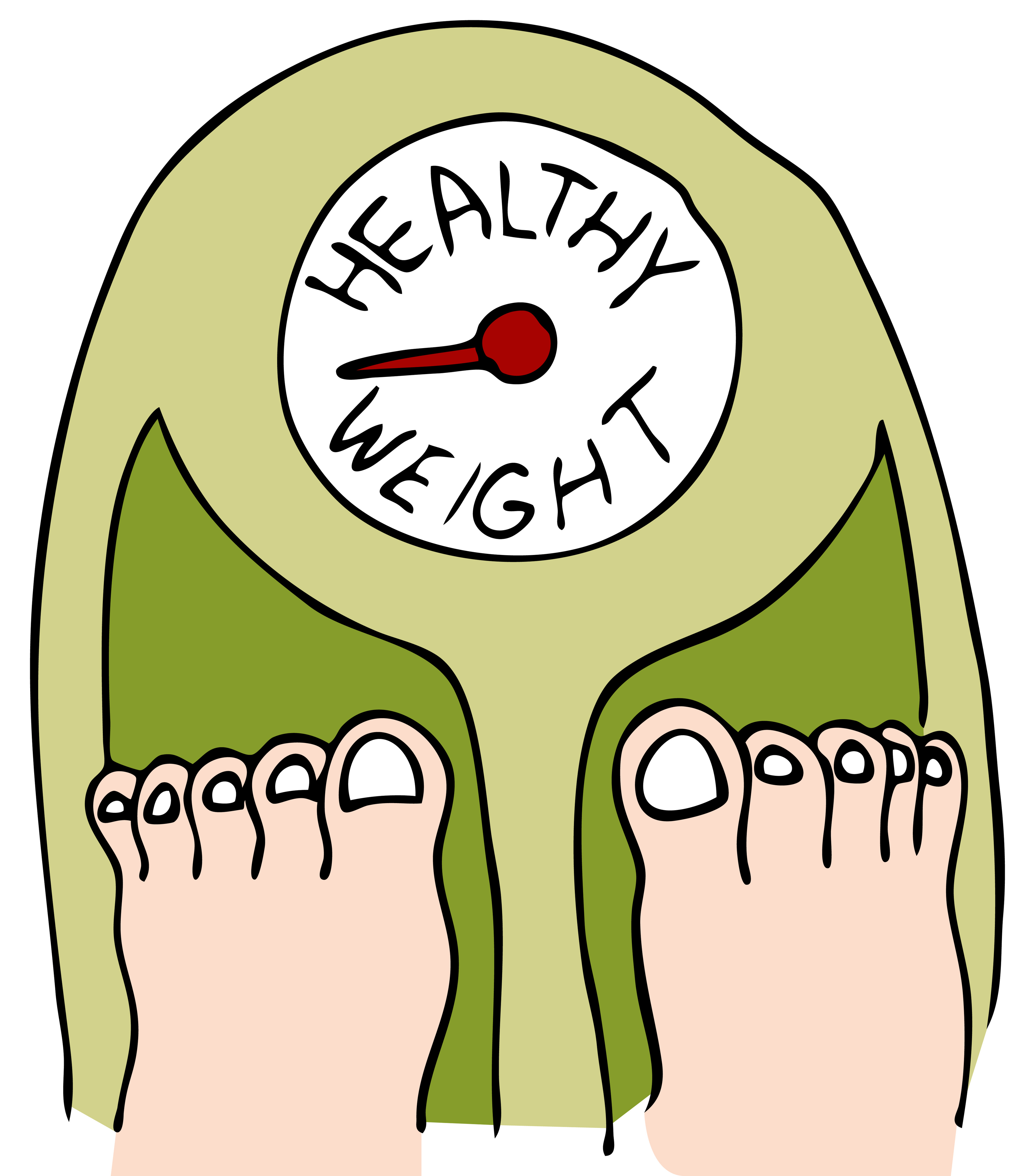 Free weight loss scale clipart.