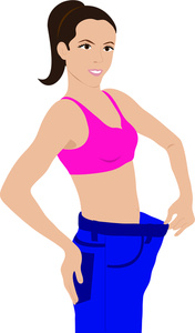 Lose Weight Cartoon Clipart.