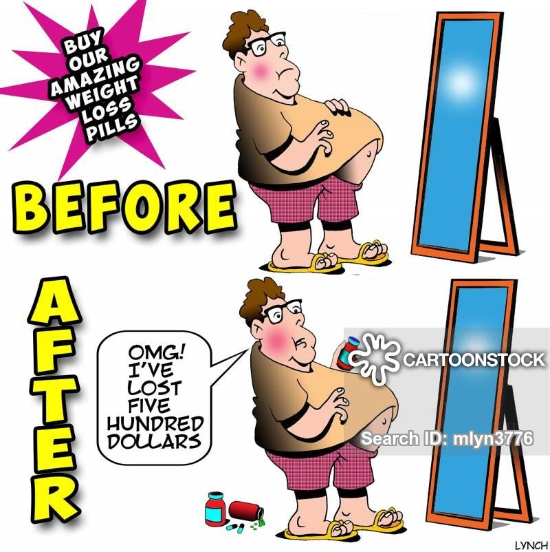 Weight Loss Pills Cartoons and Comics.