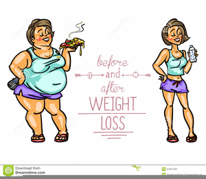 Funny Weight Loss Clipart.
