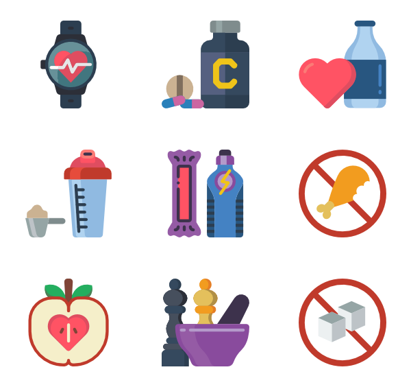Weight loss Icons.