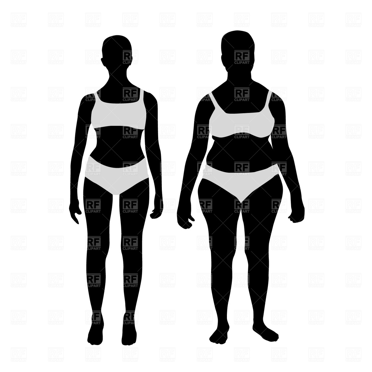 Weight Loss Before And After Clipart.