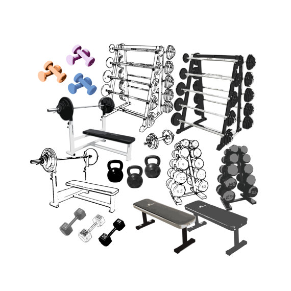 Weight Room Clipart.