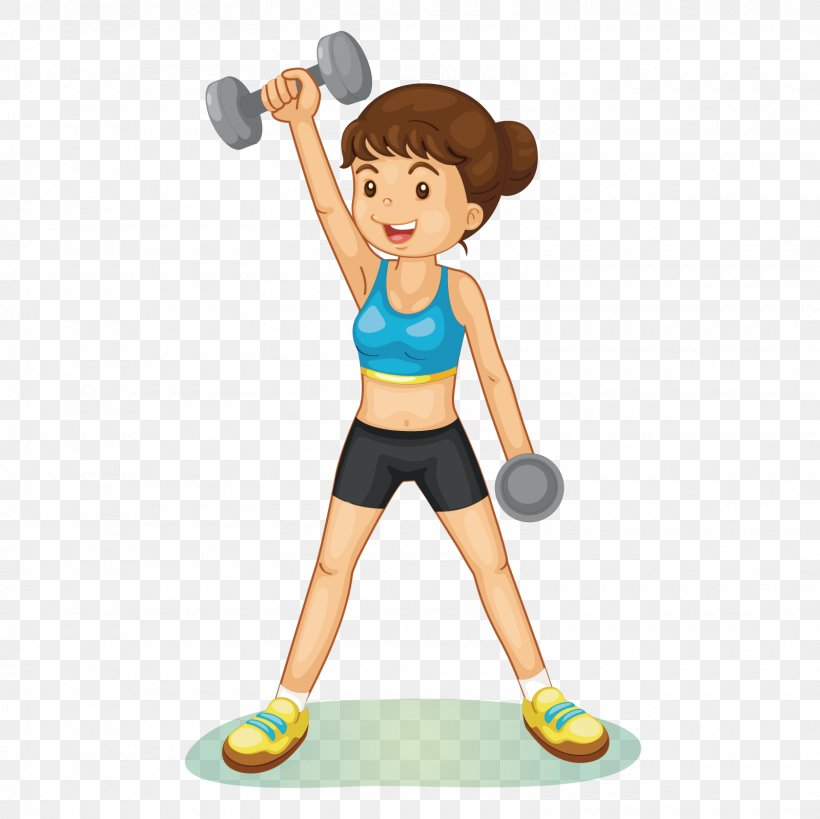 Physical Exercise Fitness Centre Weight Training Clip Art.