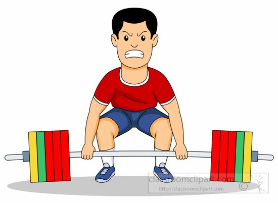 Man Lifts Weights For Strength Training Clipart » Clipart Portal.