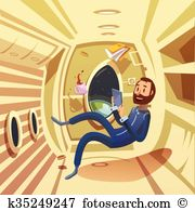 Weightlessness space Clipart and Illustration. 323 weightlessness.