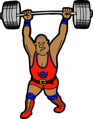 Weightlifter Clipart.