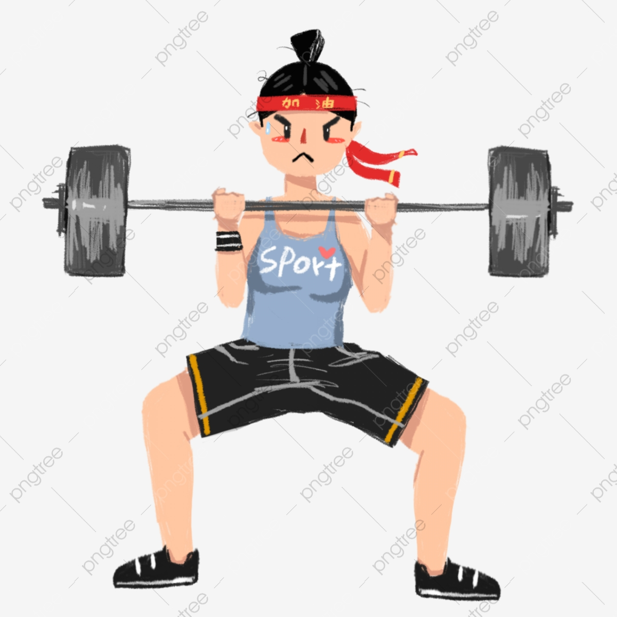 Weightlifting Woman, Weightlifting Clipart, Woman Clipart, Woman PNG.