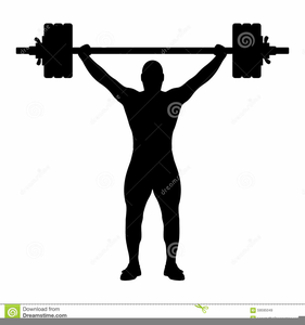 Weightlifter Clipart Black And White.