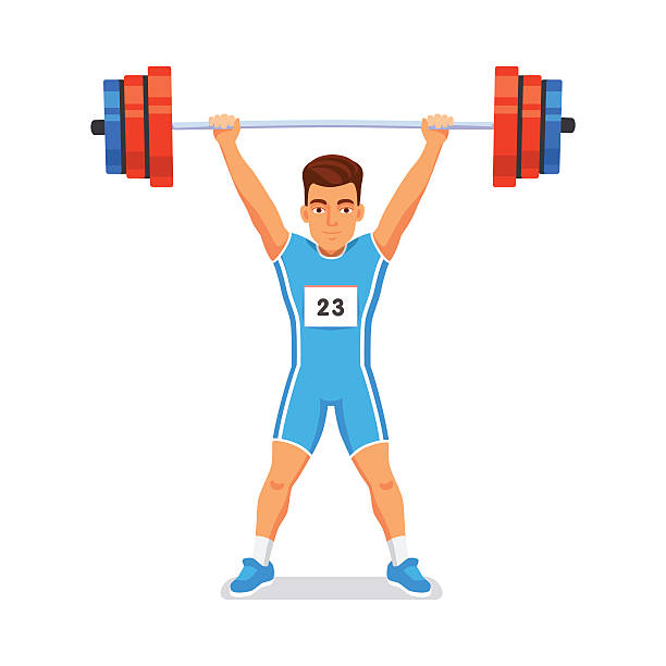 470 Weightlifting free clipart.