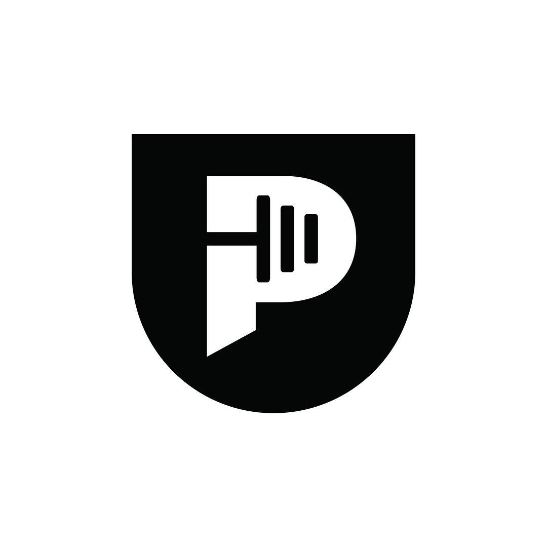 Letter P Logo Weightlifting Logo Fitness Logo.