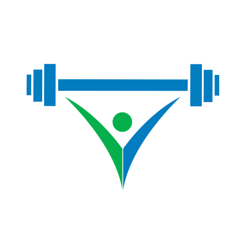 Abstract Weightlifting Sports Logo.