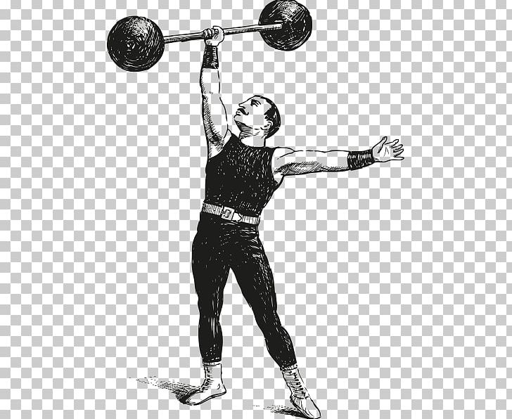 Strongman Barbell Olympic Weightlifting Dumbbell Exercise.