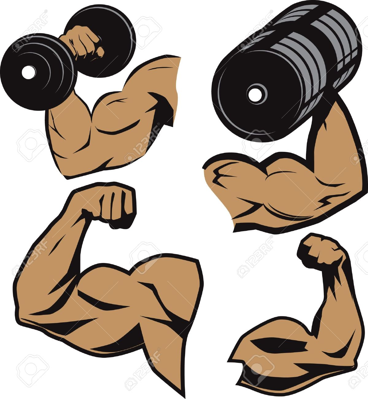 2267 Arms free clipart.