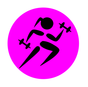 Runninggirl Weights 2 Clip Art at Clker.com.