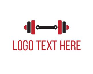 Red & Black Weights Logo.