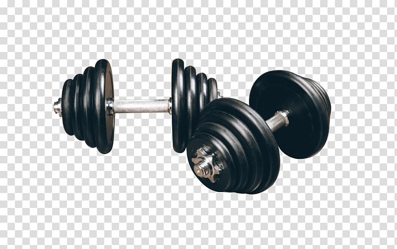 Two black dumbbells, Dumbbell Weight training Bodybuilding.