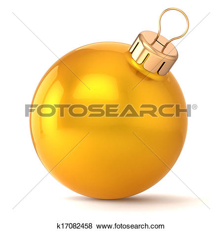 Stock Illustration of Christmas ball gold New Years Eve k17082458.