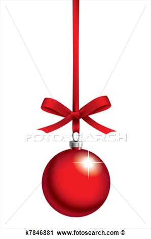 Rot Weihnachtskugel Mit Schleifchen Gro E Clipart Grafik Anschauen.