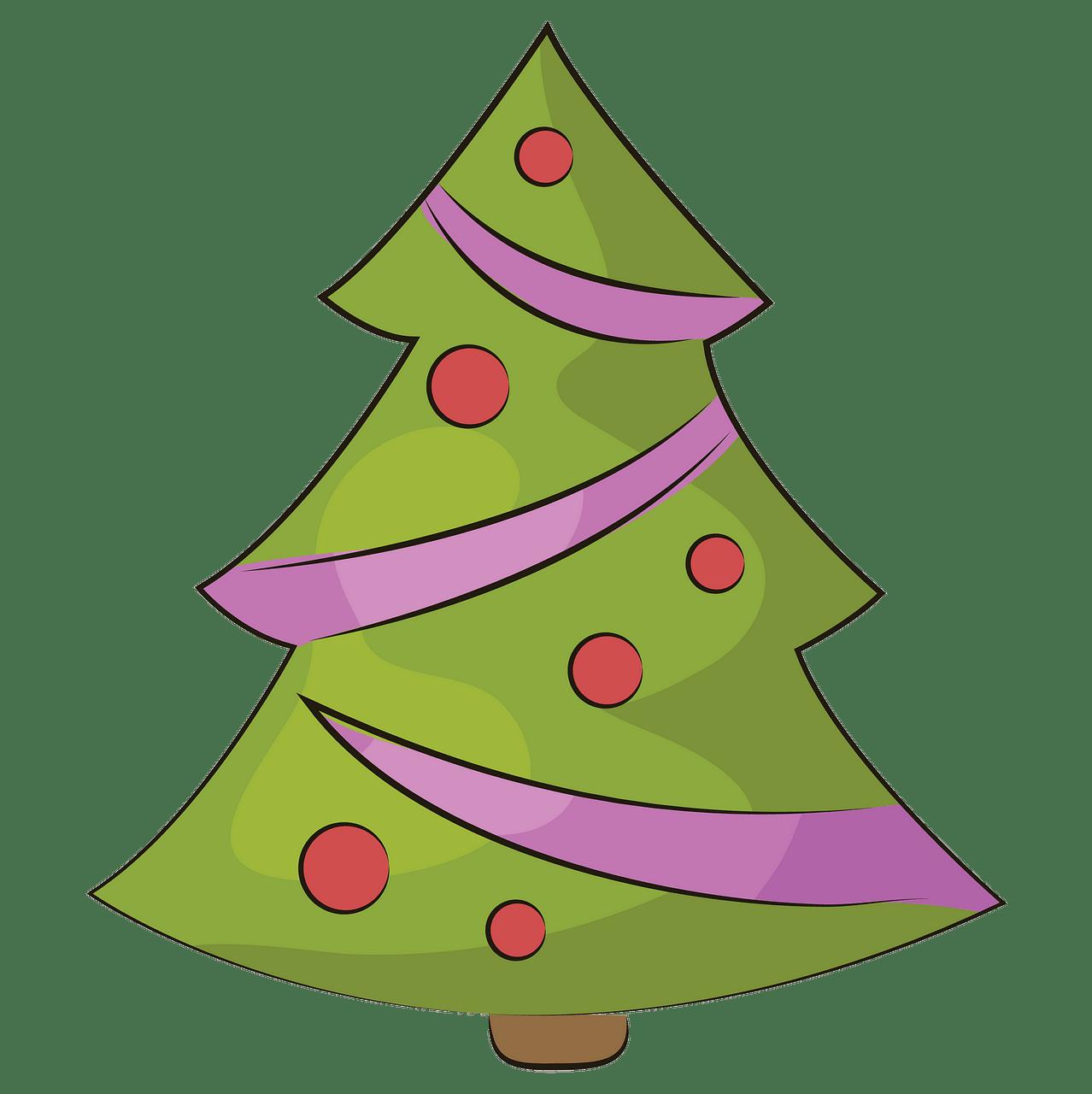 Weihnachtsbaum clipart. Kostenloser Download..