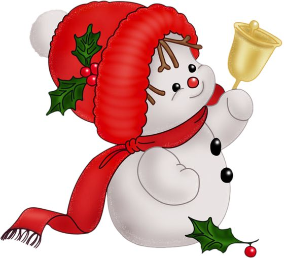 Vintage Snowman Clip Art.