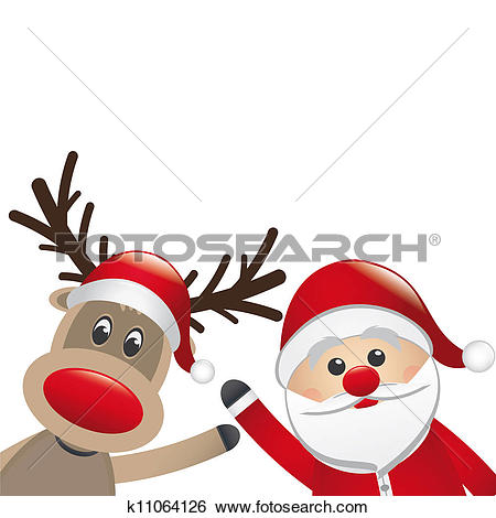 Clipart of rudolph k6290955.