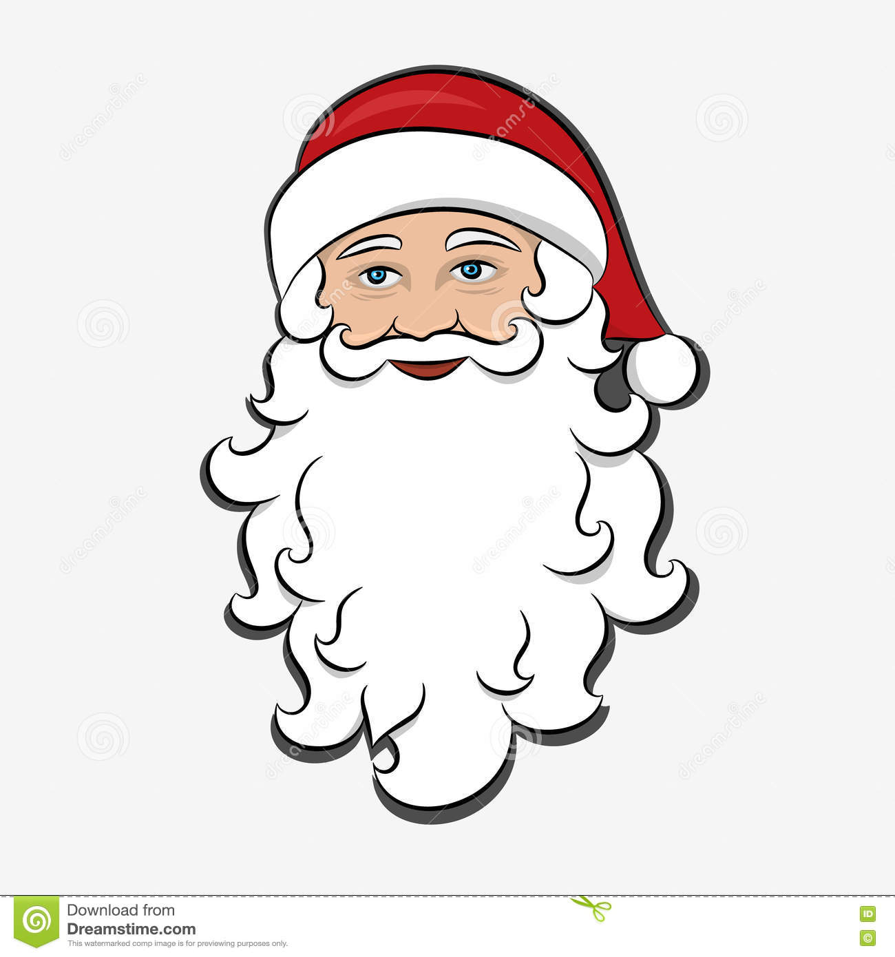 Weihnachtsmann bart clipart 6 » Clipart Station.