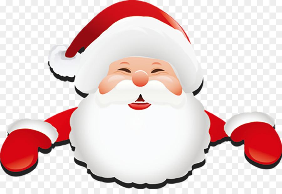 Weihnachtsmann BART Clip.