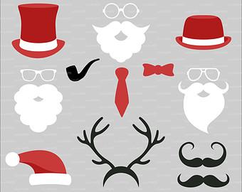 Weihnachtsmann + Bowling Clipart.