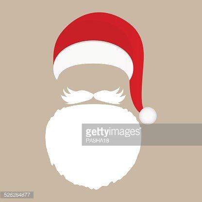 Weihnachtsmann Mütze, Bart und Schnurrbart Clipart Image.