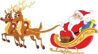Schlittentraining für den Weihnachtsmann Rollbrett.