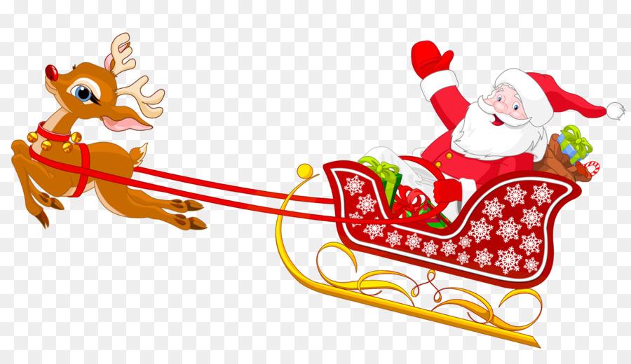 Weihnachtsmann Schlitten clipart.