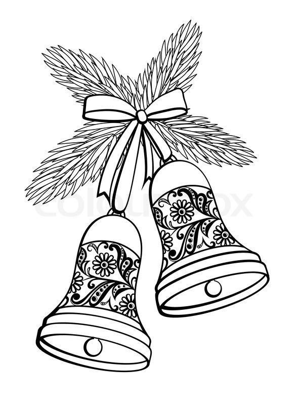Weihnachten Clipart Schwarz Weiß.