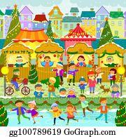 Christmas Market Clipart.