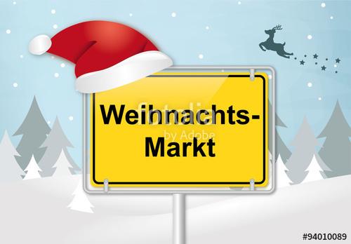 Weihnachtsmarkt Schild