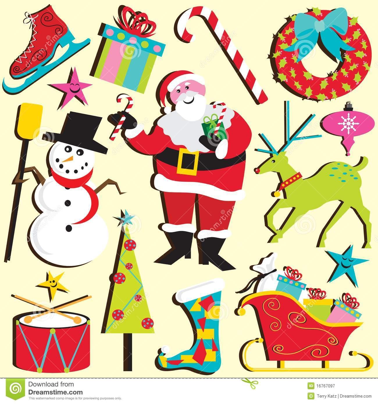 Weihnachten Verziert Clipart Lizenzfreie Stockbilder.