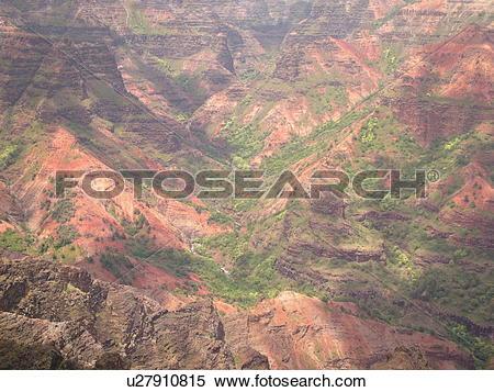 Stock Image of Waimea, Kauai, HI, Hawaii, Westside, Waimea Canyon.