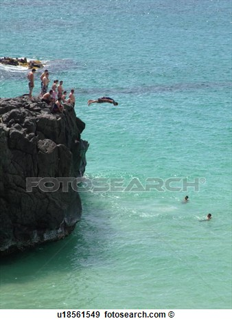 Cliff Diving Clipart.