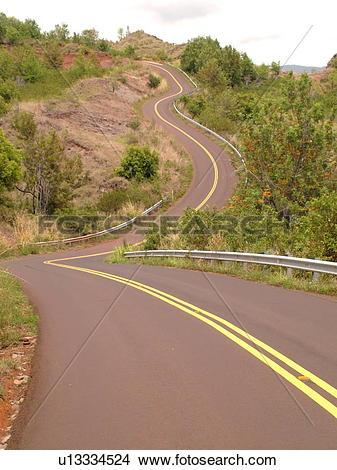 Stock Photo of Waimea, Kauai, HI, Hawaii, Westside, Waimea Canyon.