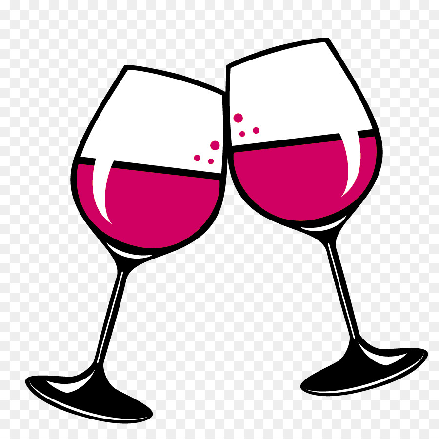 Wein Glas, Rot Wein, Weiß Wein.